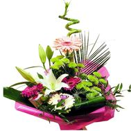 """Cascade bouquet of flowers for men"" in the online flower shop df.ua"