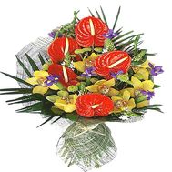 Round male bouquet with anthurium - flowers and bouquets on df.ua