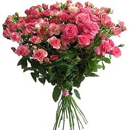 """A small bouquet of pink roses"" in the online flower shop df.ua"