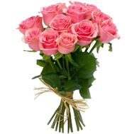 11 pink roses - flowers and bouquets on df.ua