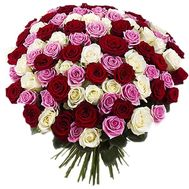 101 multi-colored rose - flowers and bouquets on df.ua