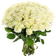 """""""55 white roses"""" in the online flower shop df.ua"""