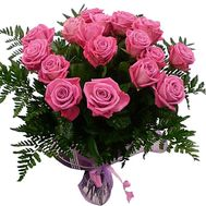 19 pink roses - flowers and bouquets on df.ua