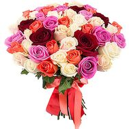 """""""45 multi-colored roses"""" in the online flower shop df.ua"""