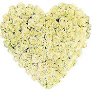 Сердце 101 белая роза - цветы и букеты на df.ua