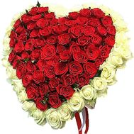 Heart of 101 roses - flowers and bouquets on df.ua