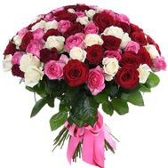 """Chic bouquet with a birthday"" in the online flower shop df.ua"