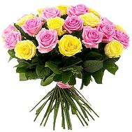 """25 pink and yellow roses"" in the online flower shop df.ua"