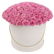 101 roses in a hat box - flowers and bouquets on df.ua