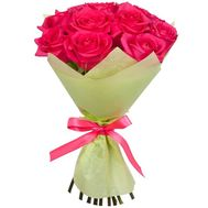 11 Dutch pink roses - flowers and bouquets on df.ua