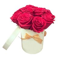 11 red roses in a box - flowers and bouquets on df.ua
