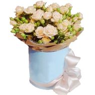 15 bush cream roses in a box - flowers and bouquets on df.ua
