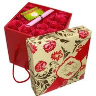 15 roses in a square box - flowers and bouquets on df.ua