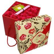 15 роз в квадратной коробке - цветы и букеты на df.ua