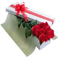 15 roses in a rectangular box - flowers and bouquets on df.ua