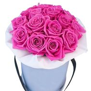 15 pink roses in a box - flowers and bouquets on df.ua
