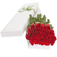25 imported roses in a box - flowers and bouquets on df.ua