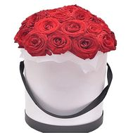 25 roses in a hat box - flowers and bouquets on df.ua