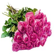 25 pink imported roses - flowers and bouquets on df.ua