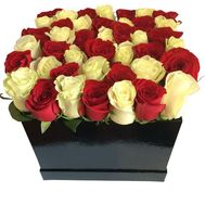 45 троянд в коробці - цветы и букеты на df.ua