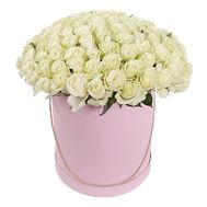 51 roses in a hat box - flowers and bouquets on df.ua