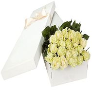 White roses in a long box - flowers and bouquets on df.ua