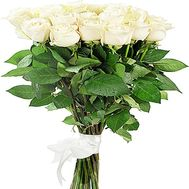 Bouquet of large white roses - flowers and bouquets on df.ua