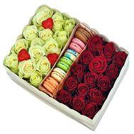 Цветы и макаруны - цветы и букеты на df.ua