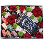 Цветы и виски Jack Daniel`s - цветы и букеты на df.ua