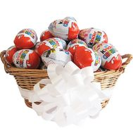 Kinder surprise in the basket - flowers and bouquets on df.ua