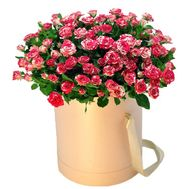 Box of 19 rose bush roses - flowers and bouquets on df.ua