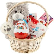 Sweets basket Kinder and teddy bear - flowers and bouquets on df.ua