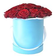 Beautiful box with red roses - flowers and bouquets on df.ua