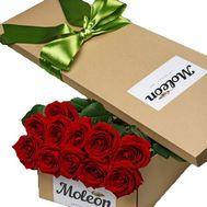 Red roses in a long box - flowers and bouquets on df.ua