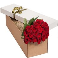 Red roses in a rectangular box - flowers and bouquets on df.ua