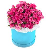 Shrub Pink Roses in a Box - flowers and bouquets on df.ua