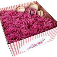 Макаруны с цветами - цветы и букеты на df.ua