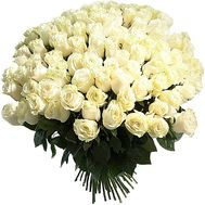 A huge bouquet of white imported roses - flowers and bouquets on df.ua