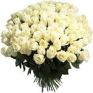Огромный букет белых импортных роз - цветы и букеты на df.ua