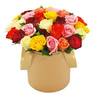 Original box of multi-colored roses - flowers and bouquets on df.ua