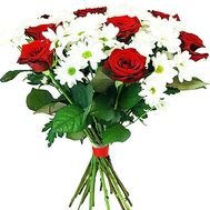 Congratulatory flower bouquet - flowers and bouquets on df.ua