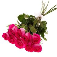 Pink imported roses 9 pcs - flowers and bouquets on df.ua