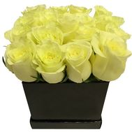 White roses in a square box - flowers and bouquets on df.ua
