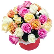 Roses of different colors in the box - flowers and bouquets on df.ua