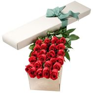 Roses in a long box - flowers and bouquets on df.ua
