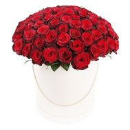 Chic roses in a hat box - flowers and bouquets on df.ua