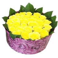 Yellow roses in a box - flowers and bouquets on df.ua