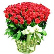 101 import roses in the basket - flowers and bouquets on df.ua