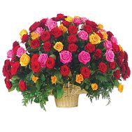 101 roses in the basket - flowers and bouquets on df.ua