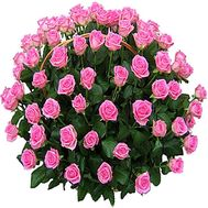 101 pink roses in the basket - flowers and bouquets on df.ua